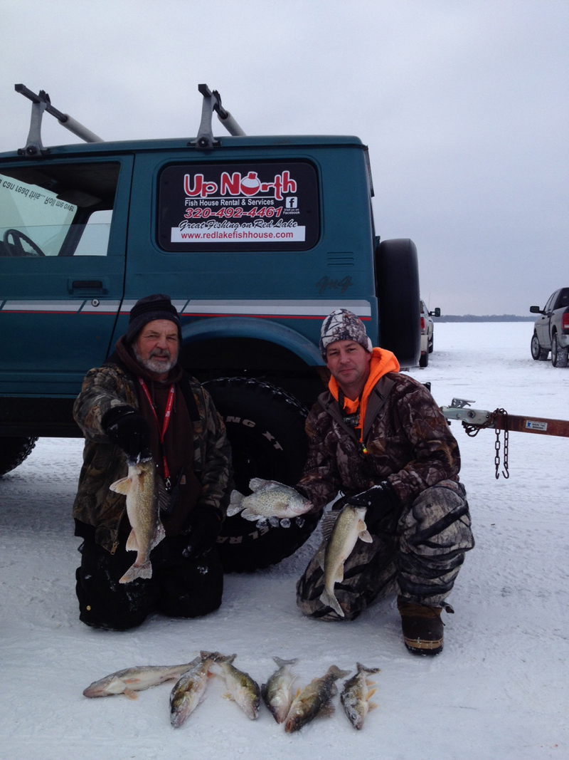 Red lake hillmans report minnesota fishing reports for Red lake fish house rentals